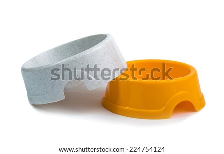 cat bowl for food - stock photo