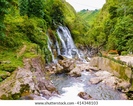 Cat Cat waterfall near sapa, Vietnam