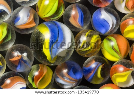 Cat Eye Marbles - stock photo