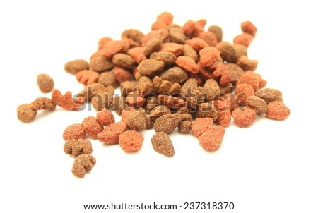 cat food close-up isolated on white background - stock photo