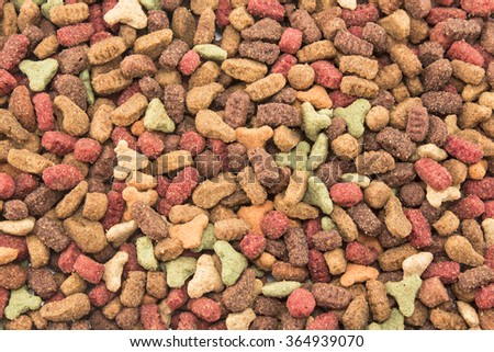 Cat food, granule, as background. - stock photo