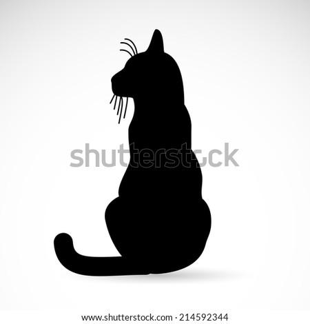 Cat icon isolated on white background. - stock photo