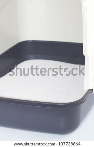 Cat litter - stock photo