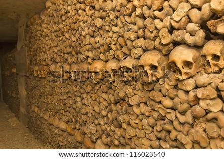 catacomb - stock photo