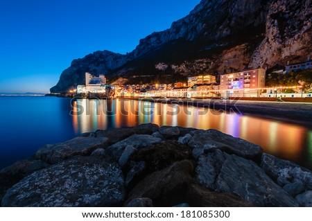 Catalan Bay Gibraltar - stock photo
