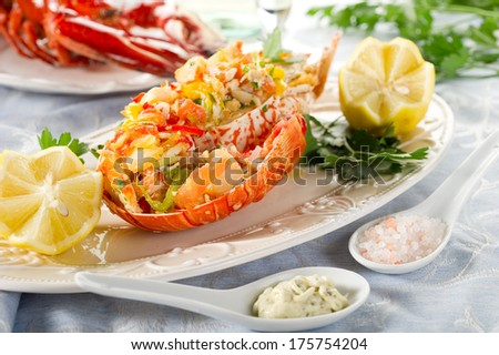 catalan lobster - stock photo
