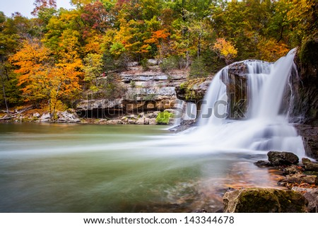 Cataract Falls State Recreation Area, Owen County, IN - stock photo