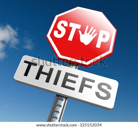 catch thiefs stop theft no robbery or pick pocket thief arrest by police investigation or neighborhood watch prevention - stock photo