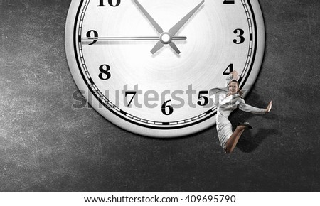 Catch up with time - stock photo