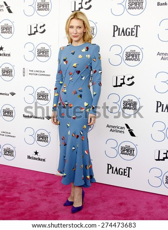 Cate Blanchett at the 2015 Film Independent Spirit Awards held at the Santa Monica Beach in Santa Monica on February 21, 2015.