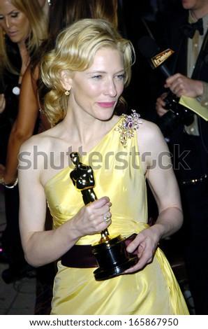 Cate Blanchett at Vanity Fair Oscar Party, Morton's Restaurant, Los Angeles, CA, Sunday, February 27, 2005 - stock photo