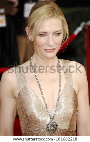 Cate Blanchett, wearing an Armani dress, at 13th Annual Screen Actors Guild SAG Awards ,The Shrine Auditorium, Los Angeles, CA, January 28, 2007