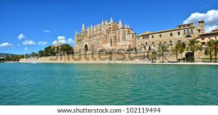 Catedral del Palma de Mallorca - stock photo