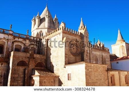 catedral Evora, Portugal - stock photo