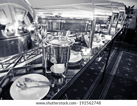 Catering buffet food indoor in luxury restaurant