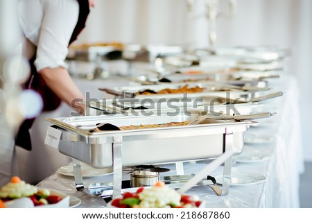 catering eat food wedding  - stock photo