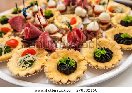 Catering food decoration meat