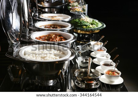 Catering food, Lowkey lighting  - stock photo
