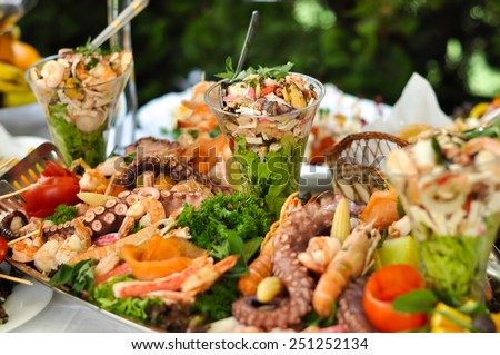 Catering food, sea food  - stock photo