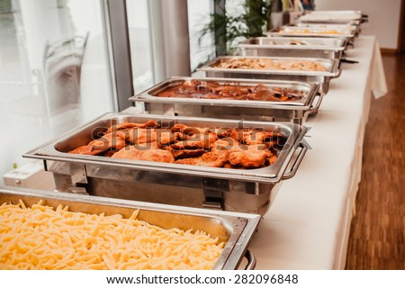 Catering Food Wedding Event Table Stock Photo 565463716