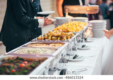 Catering Food Wedding Buffet Stock Photo 656779216