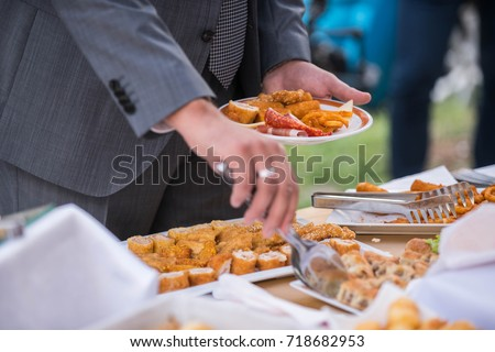 Catering Food Wedding Stock Photo 718682953