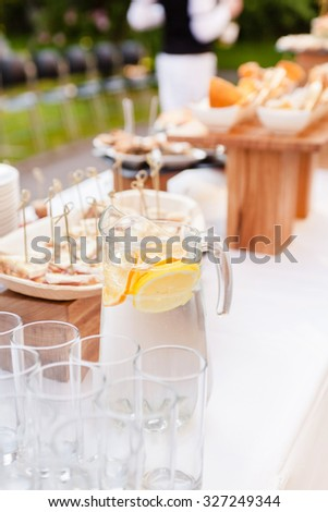 catering service - stock photo