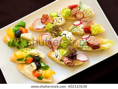 Canape stock images royalty free images vectors for Canape catering services