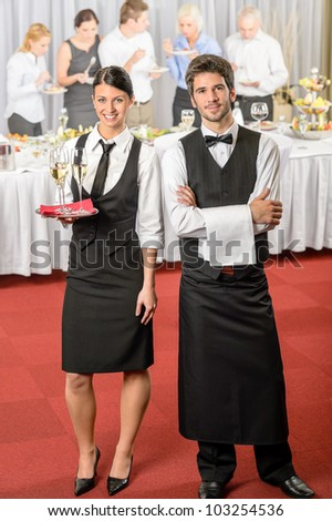 Catering Service Waiter Waitress Business Event Stock Photo ...