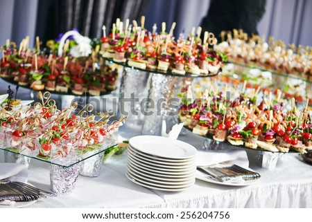 catering services background snacks on guests stock photo edit now