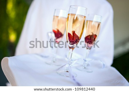 Catering (Sweet Champagne with Hibiscus in Rose Syrup)