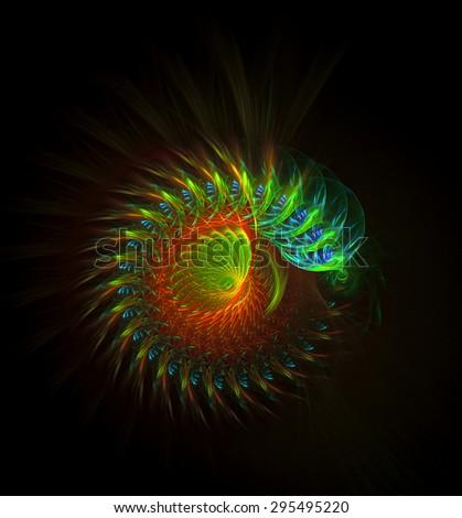 Caterpillar abstract illustration - stock photo