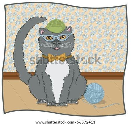CatEye Kitty - RASTER version - stock photo