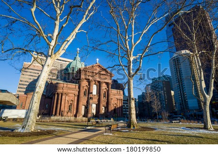 Cathedral Basilica of Saints Peter and Paul in Philadelphia - stock photo