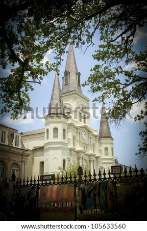 Cathedral Basilica of St. Louis - stock photo
