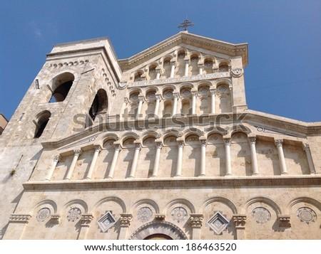 Cathedral Cagliari - stock photo