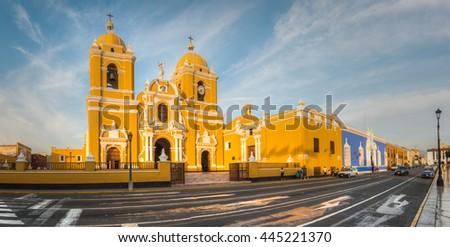 Cathedral church of Trujillo, Peru. - stock photo