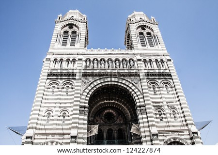 Cathedral de la Major, Marseille, France ( HDR image ) - stock photo