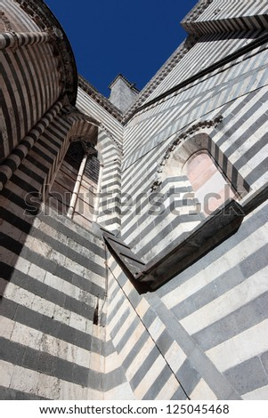 Cathedral detail in Orvieto, Umbria Italy - stock photo