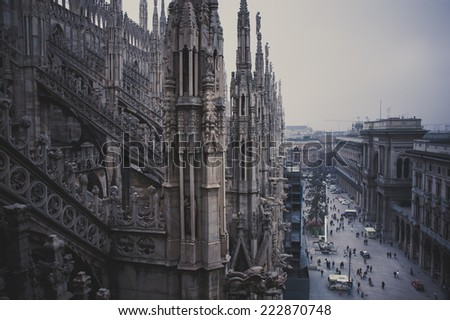 Cathedral Duomo in Milan, Italy - stock photo