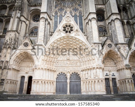 Cathedral in Bourges  - stock photo