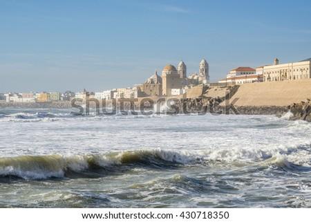 Cathedral in Cadiz, Spain - stock photo