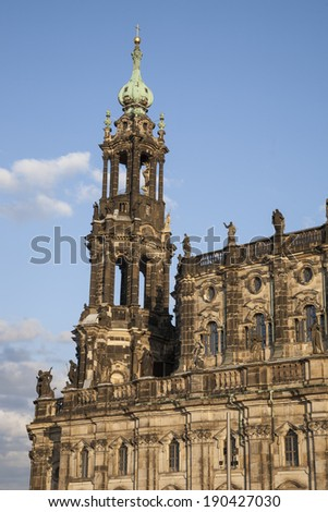 Cathedral in Dresden; Germany, Europe