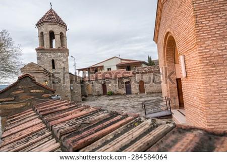 Cathedral in Gori city, Shida Kartli region in Georgia - stock photo
