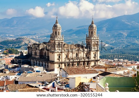 Cathedral in Jaen. Andalusia, Spain - stock photo