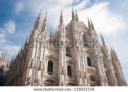 Cathedral in Milan - stock photo