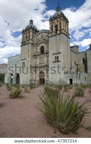 Cathedral in Oaxaca city, Mexico - stock photo