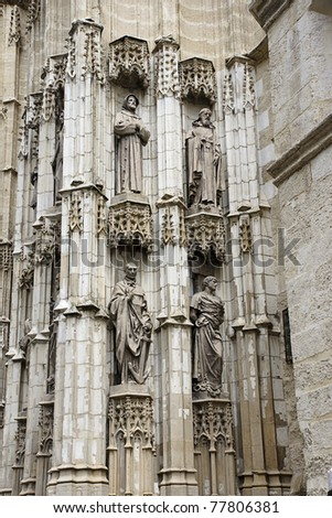 cathedral in Seville, Spain - stock photo