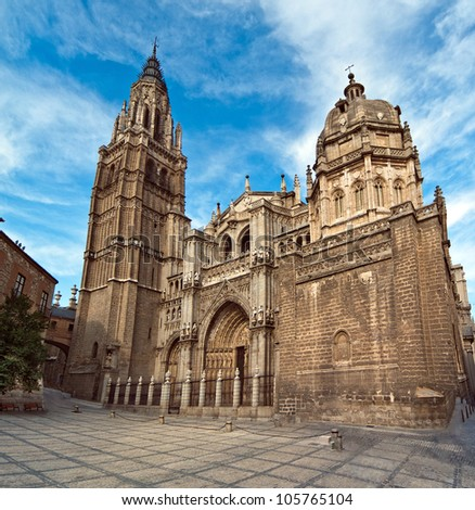 Cathedral in Toledo Spain - stock photo