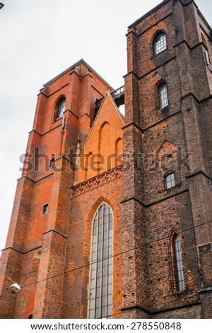 Cathedral in Wroclaw in Poland - stock photo